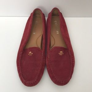 Coach Suede Driving Loafers - Maroon